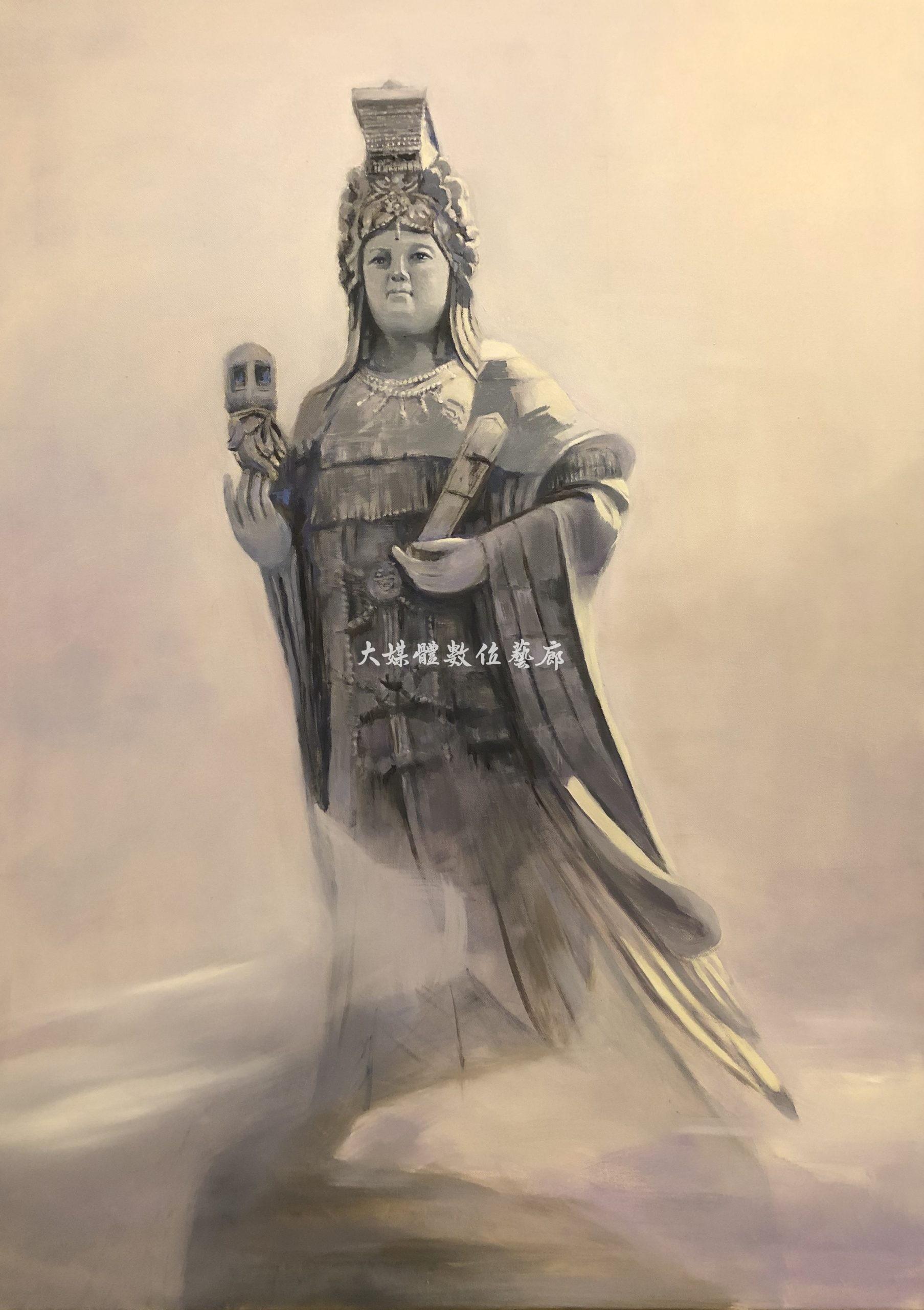 油畫 媽祖在馬祖