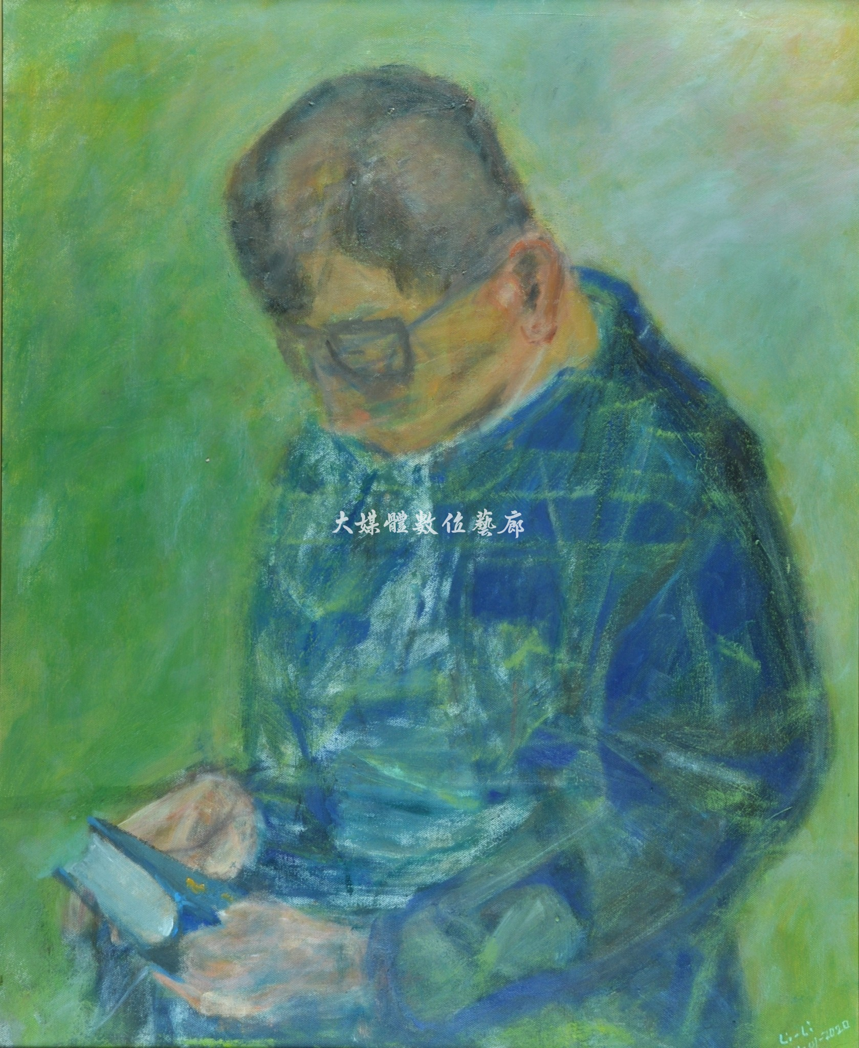 油畫 禱告 -希望之光