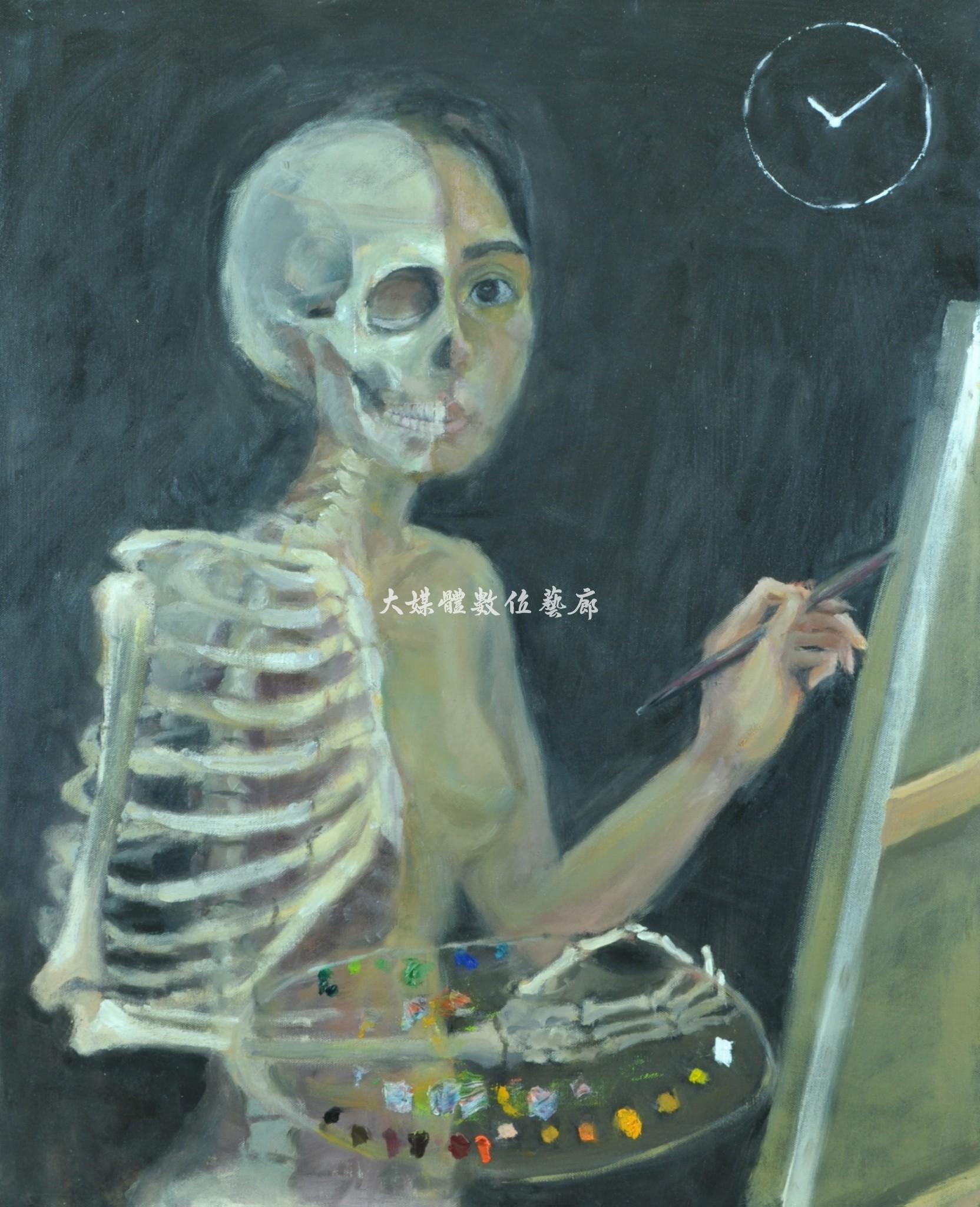 油畫 藝術家之死-靈魂不滅