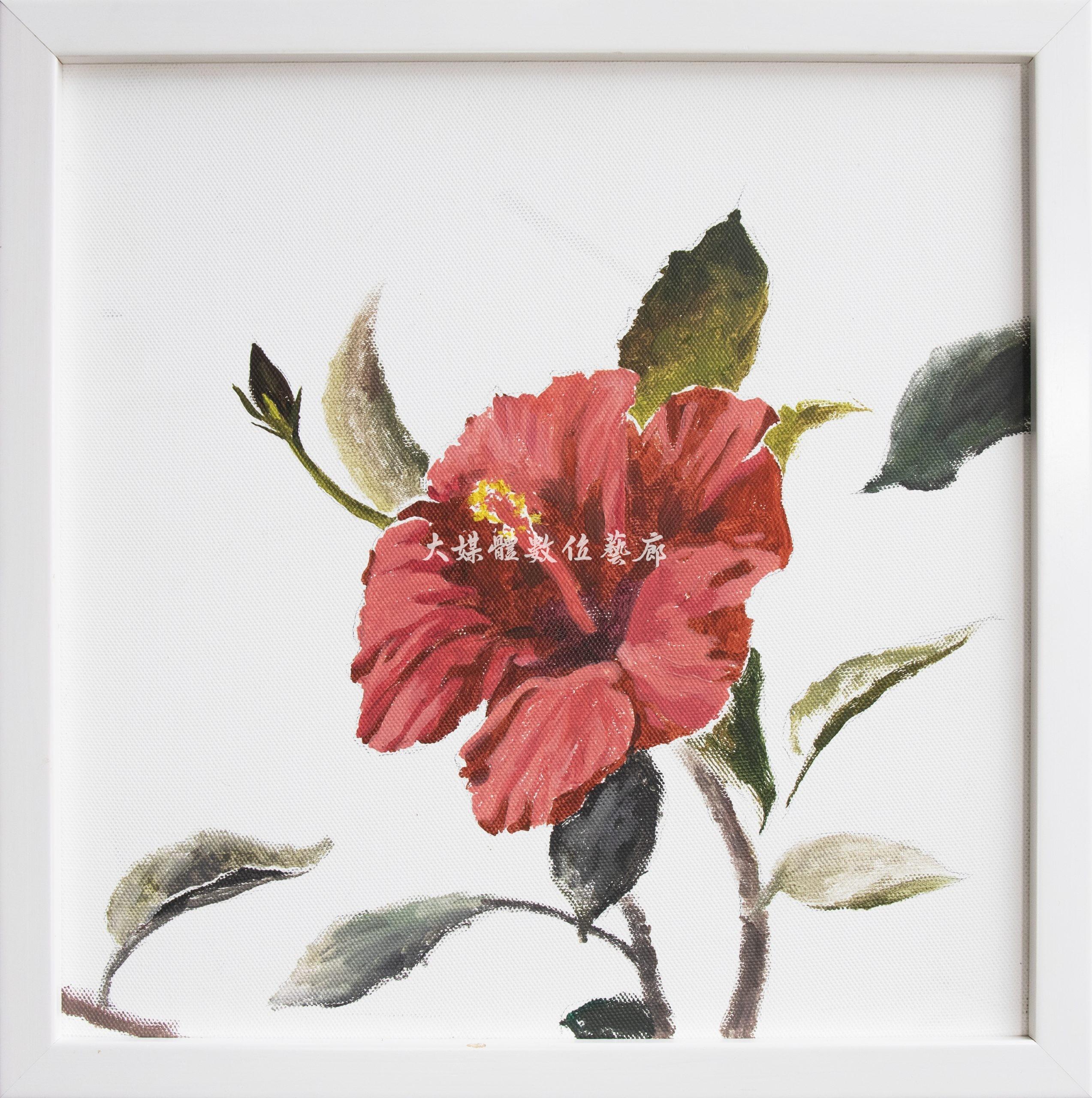 水彩畫 花與蝶-遊-2